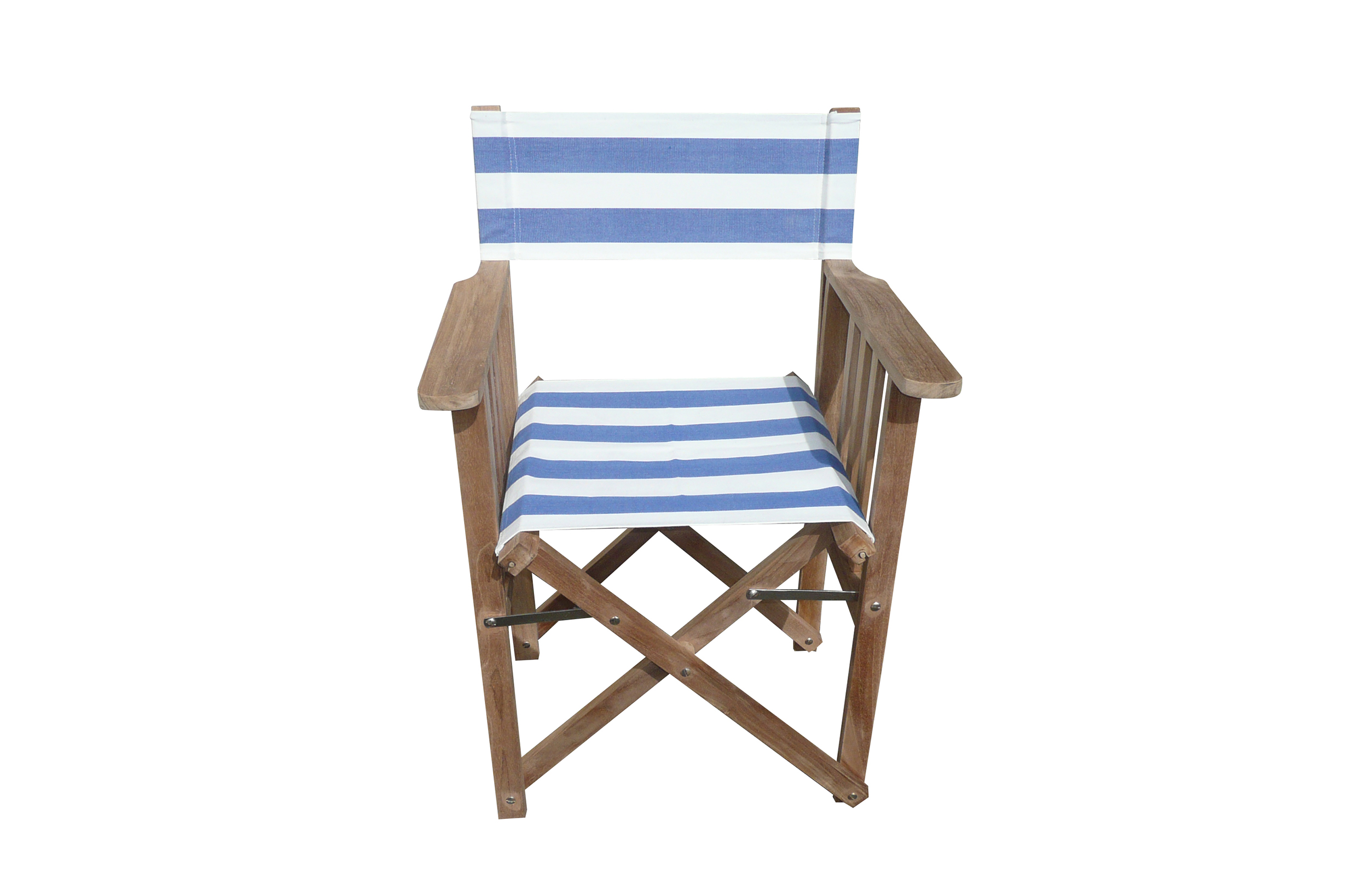 Blue And White Striped Directors Chairs   Soccer