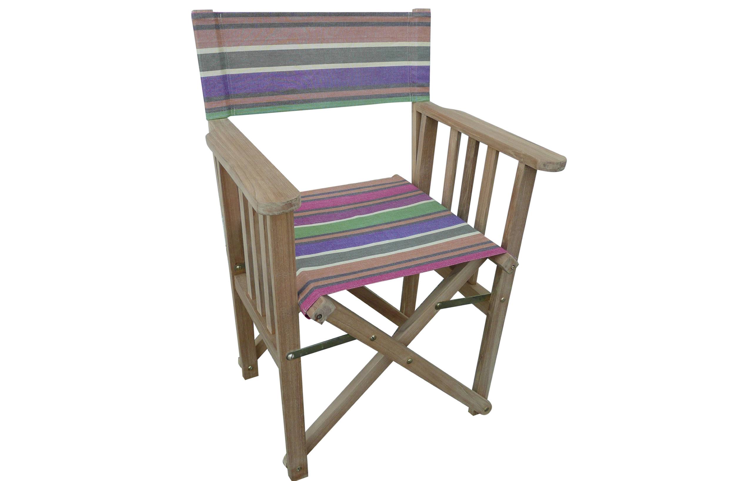 Beautiful Teak Directors Chairs   Yoga Stripe