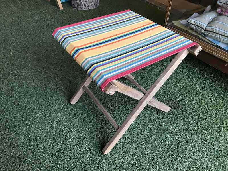 Portable Folding Stools in a medley of stripes