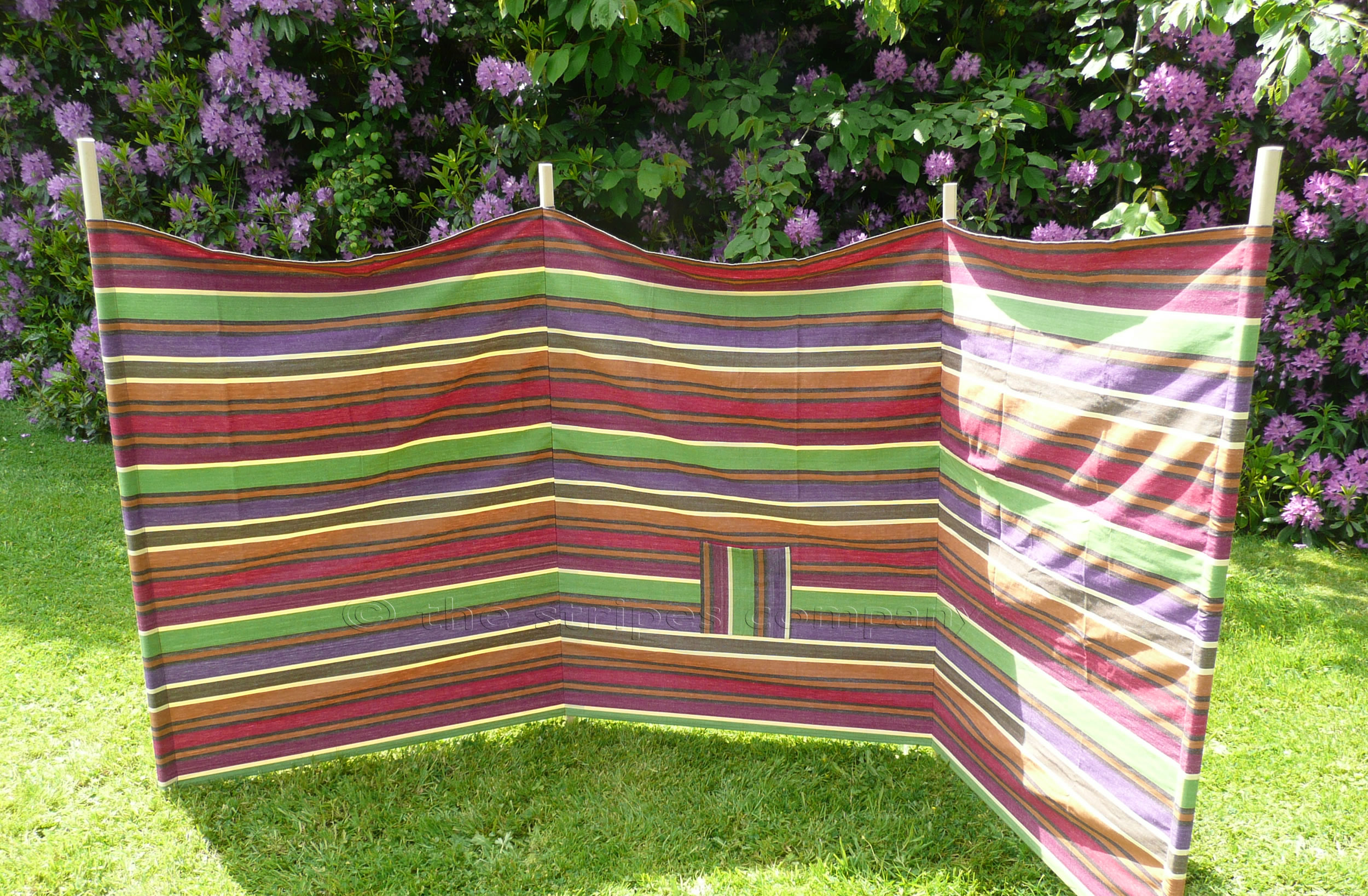 Yoga Beach Windbreak - Earthy Tones Striped Windbreak