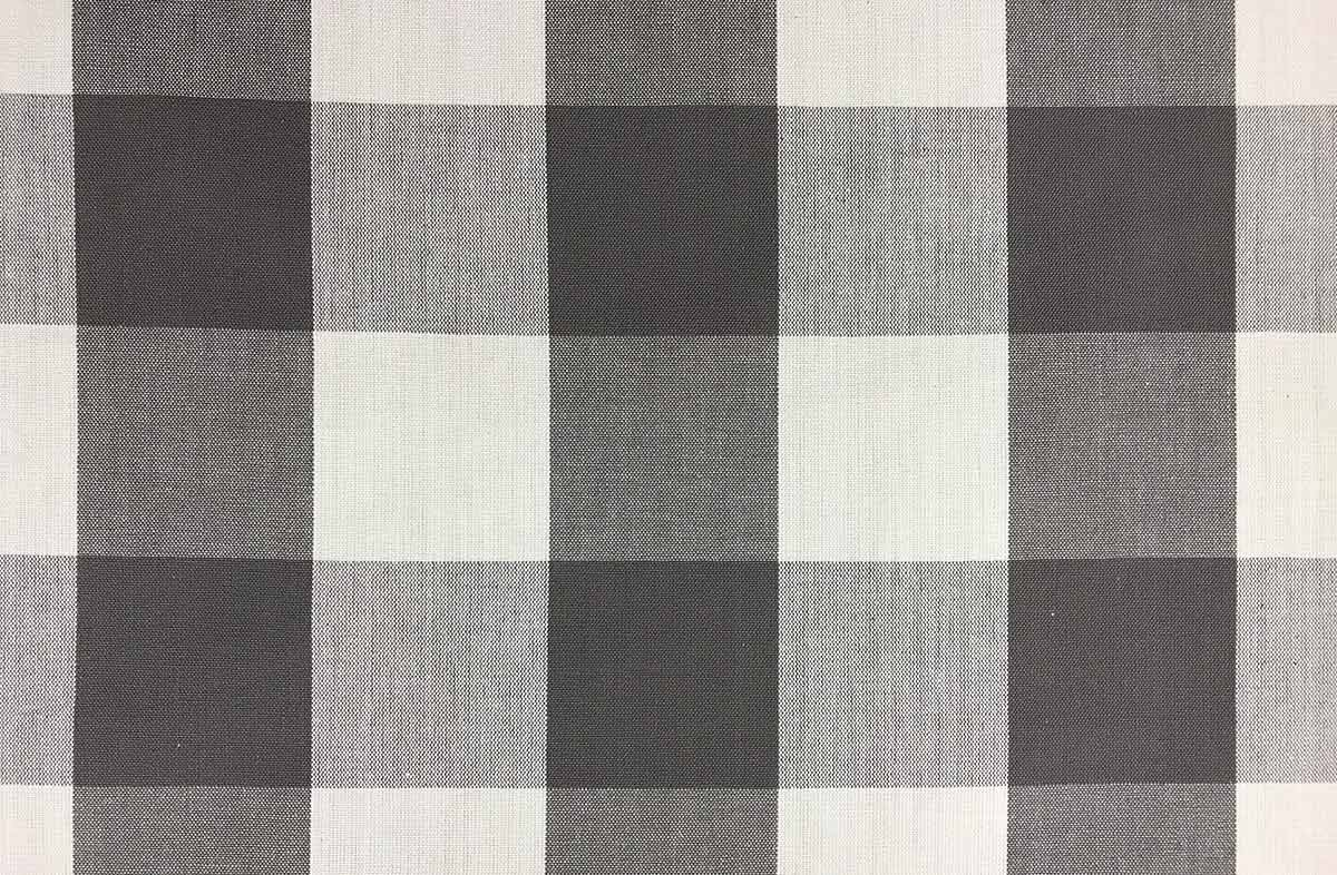 Grey Gingham Large Check Fabrics The Stripes Company