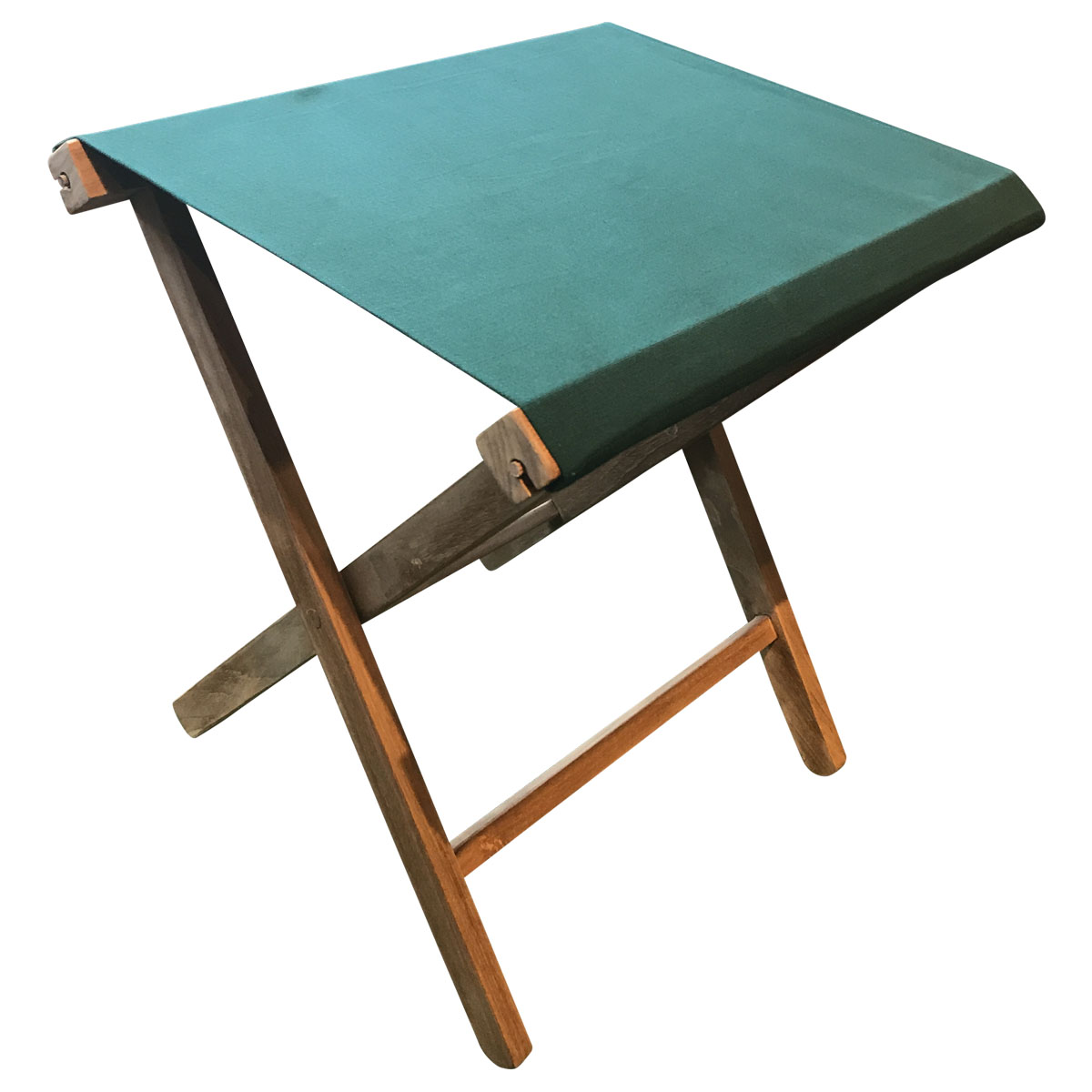 Dark Green Folding Stool - Portable Folding Stool with Dark Green Seat