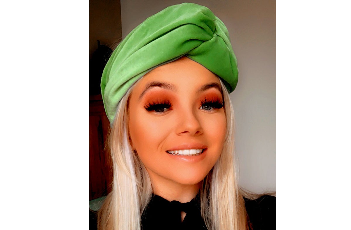 Green Velvet Turban Headbands