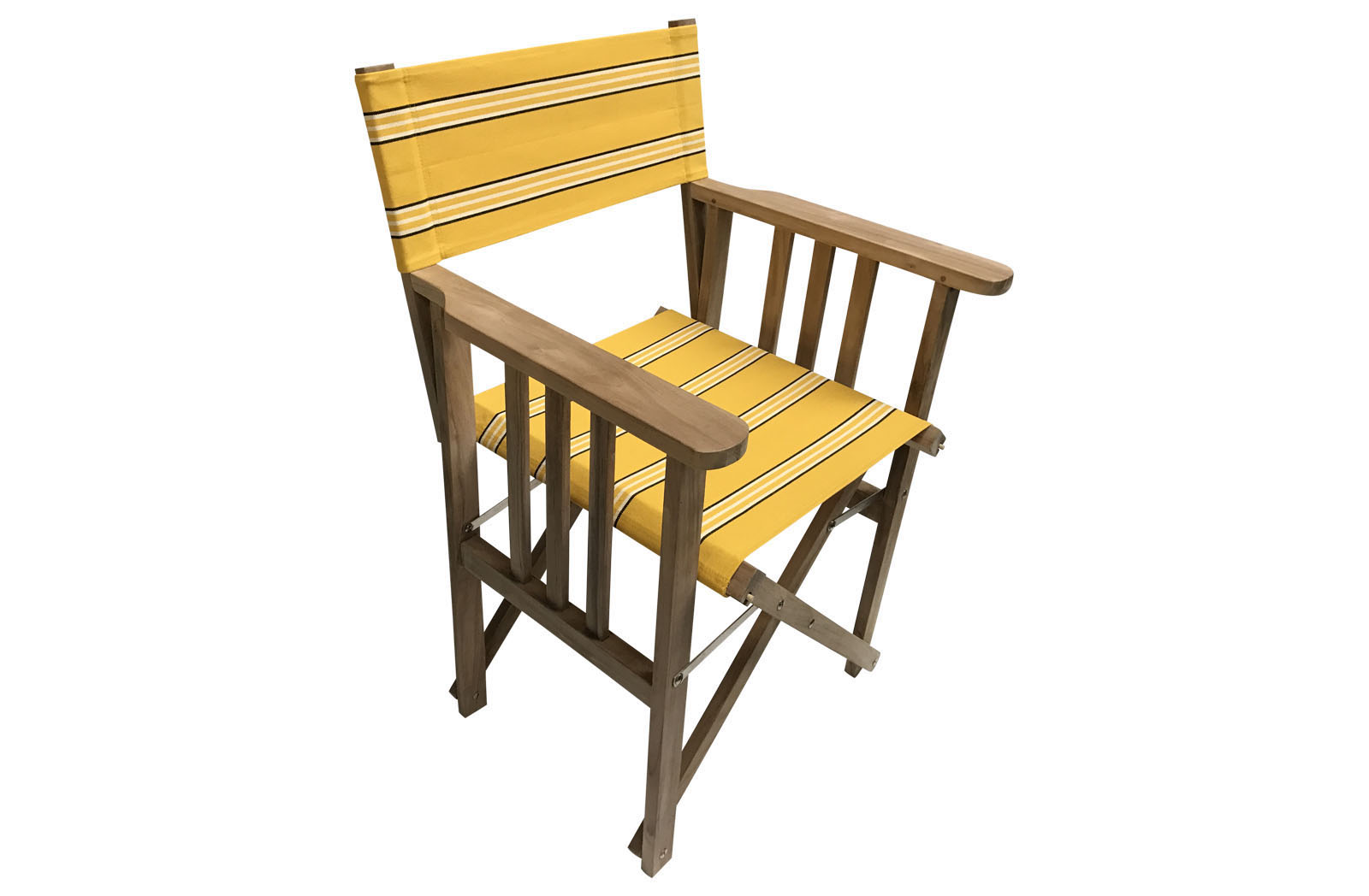 Teak Directors Chair - Handball Stripe