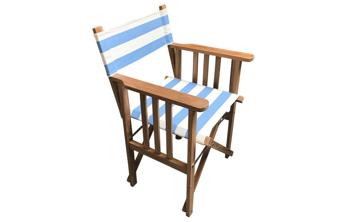 Sky blue and white stripe Directors Chairs