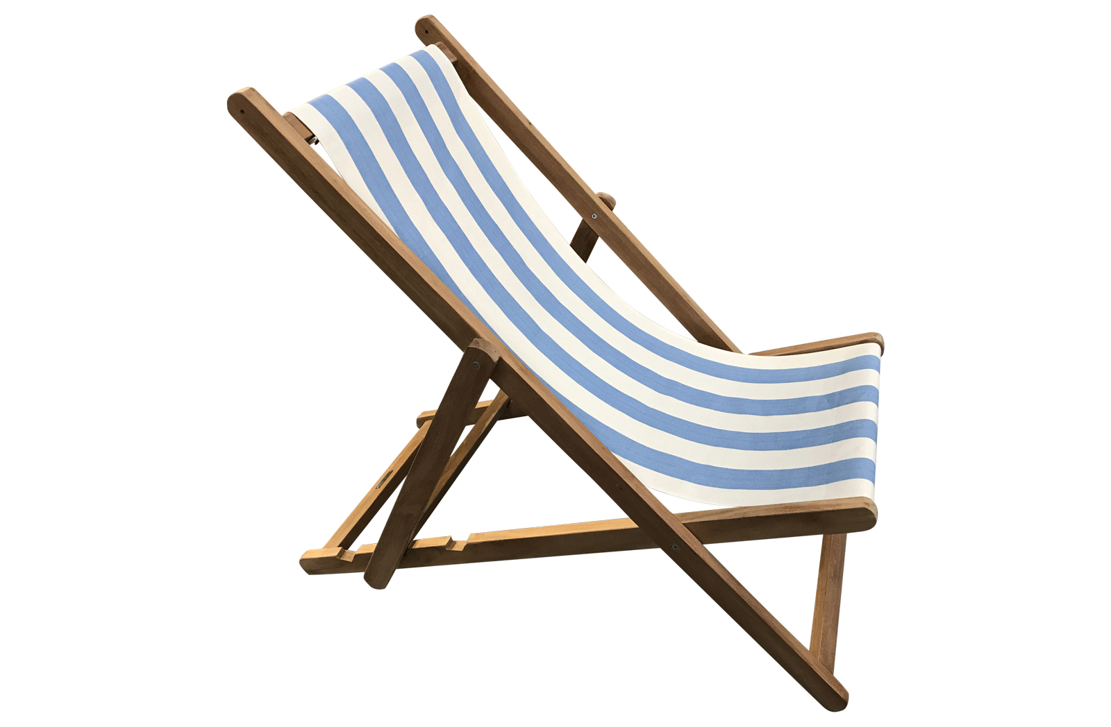 Sky blue and white Deckchair | Buy Folding Wooden Deck Chairs