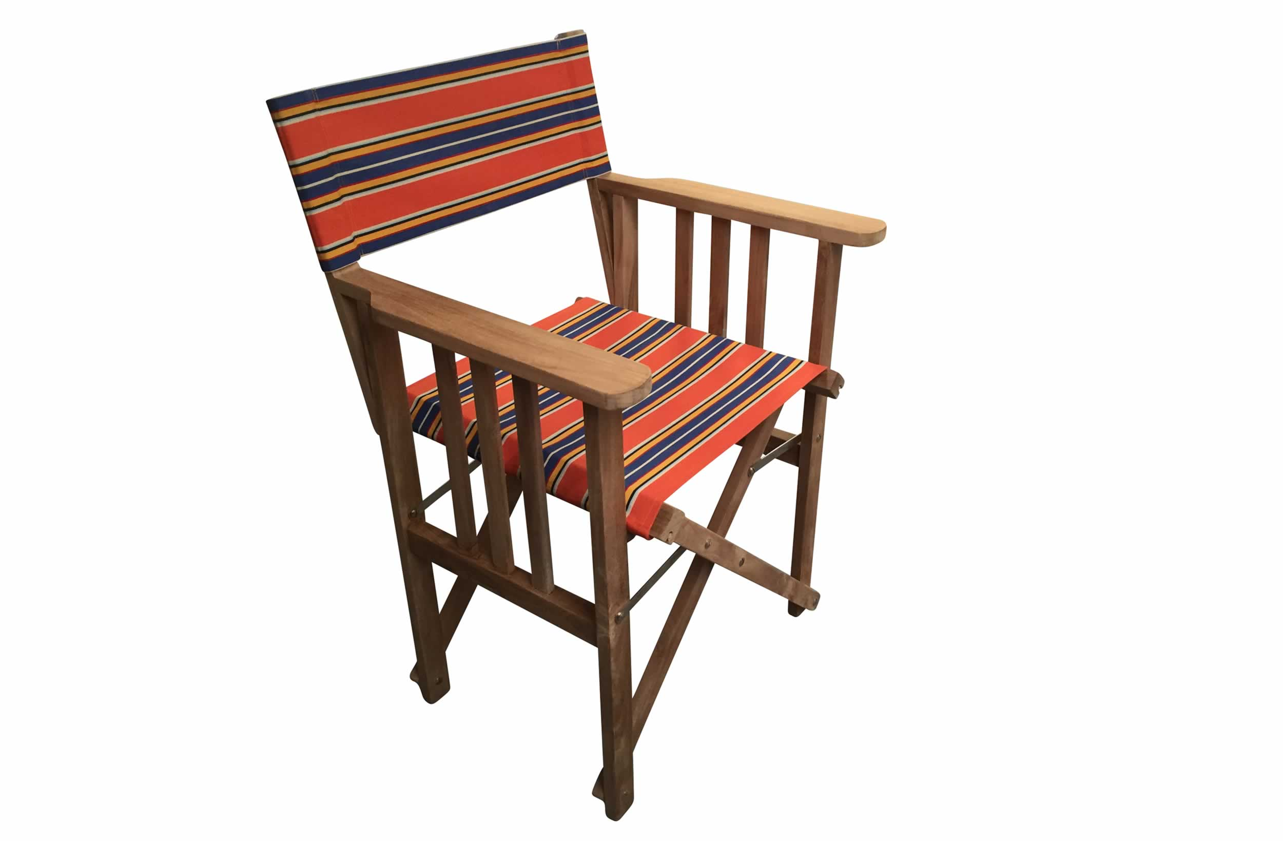 Wooden Folding Director Chair - Jazz Stripe