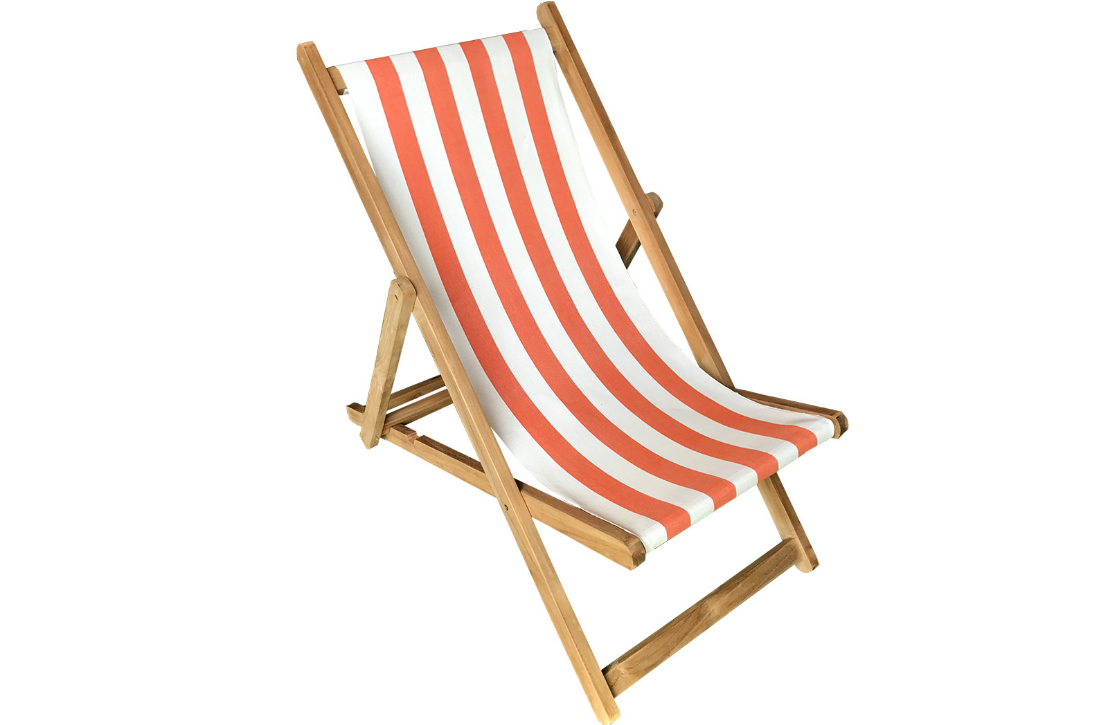 Orange and White Stripe Deckchairs