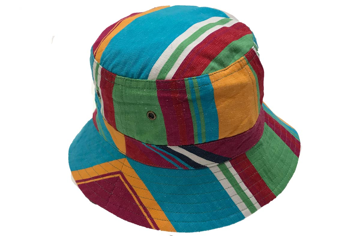 Exclusive Pink and Turquoise Stripe Sun Hats