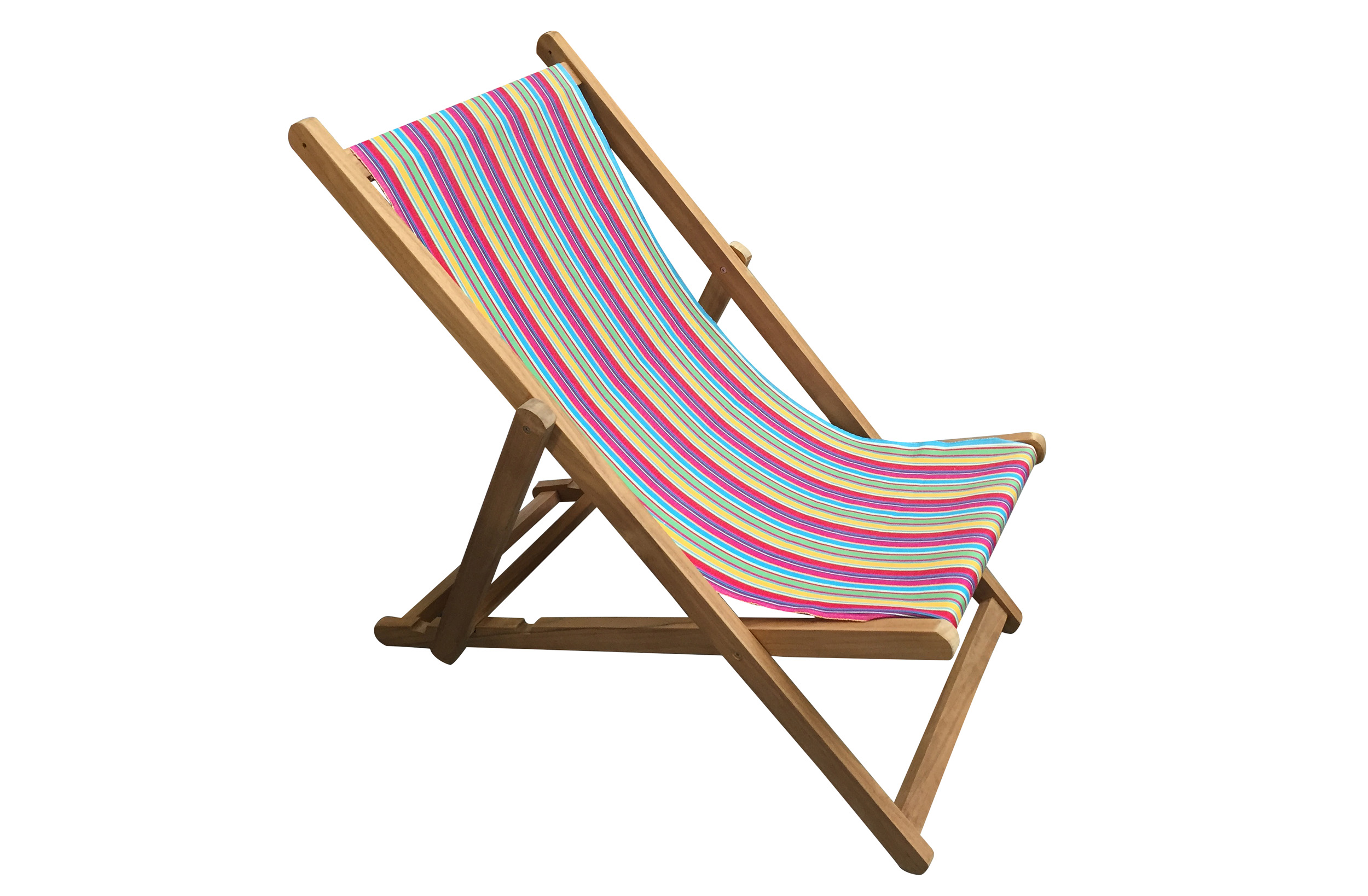Pink Deckchairs | Wooden Folding Deck Chairs Karting Pink Stripes