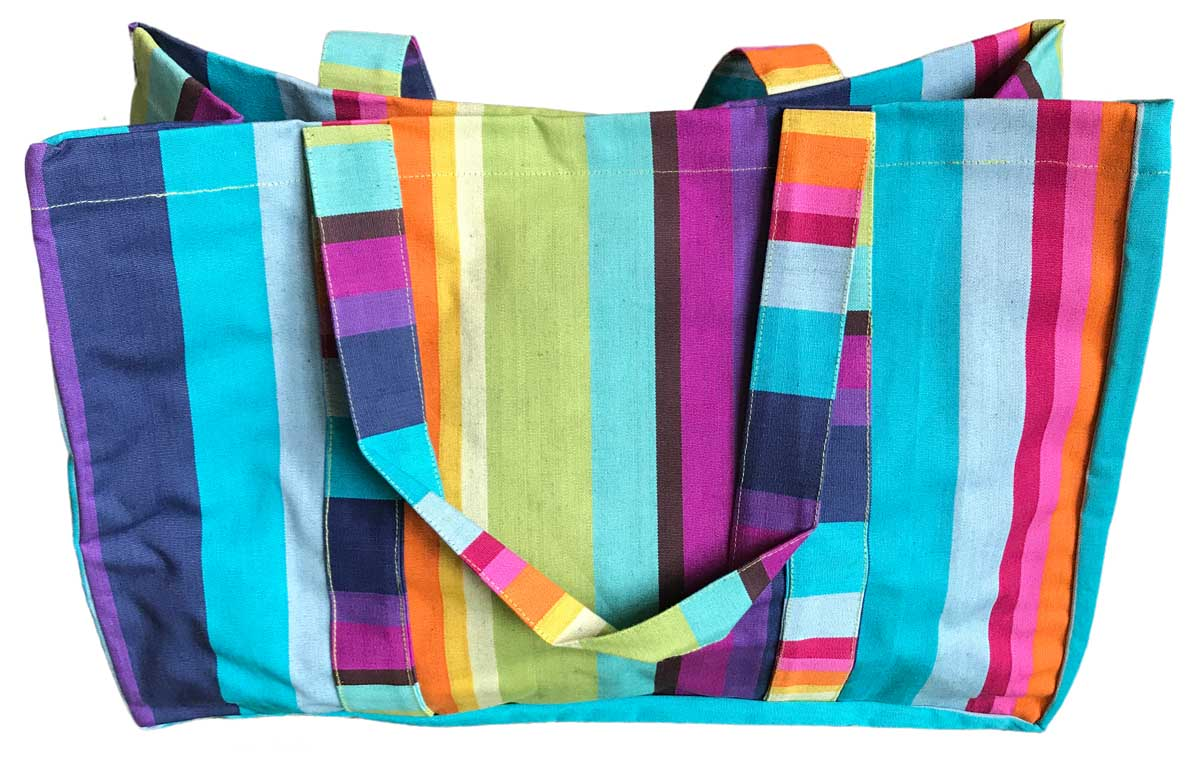 Rainbow Stripe Extra Large Beach Bag