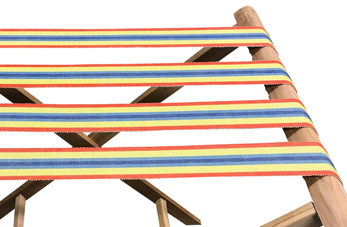 Red Folding Luggage Racks with Samba Striped Webbing