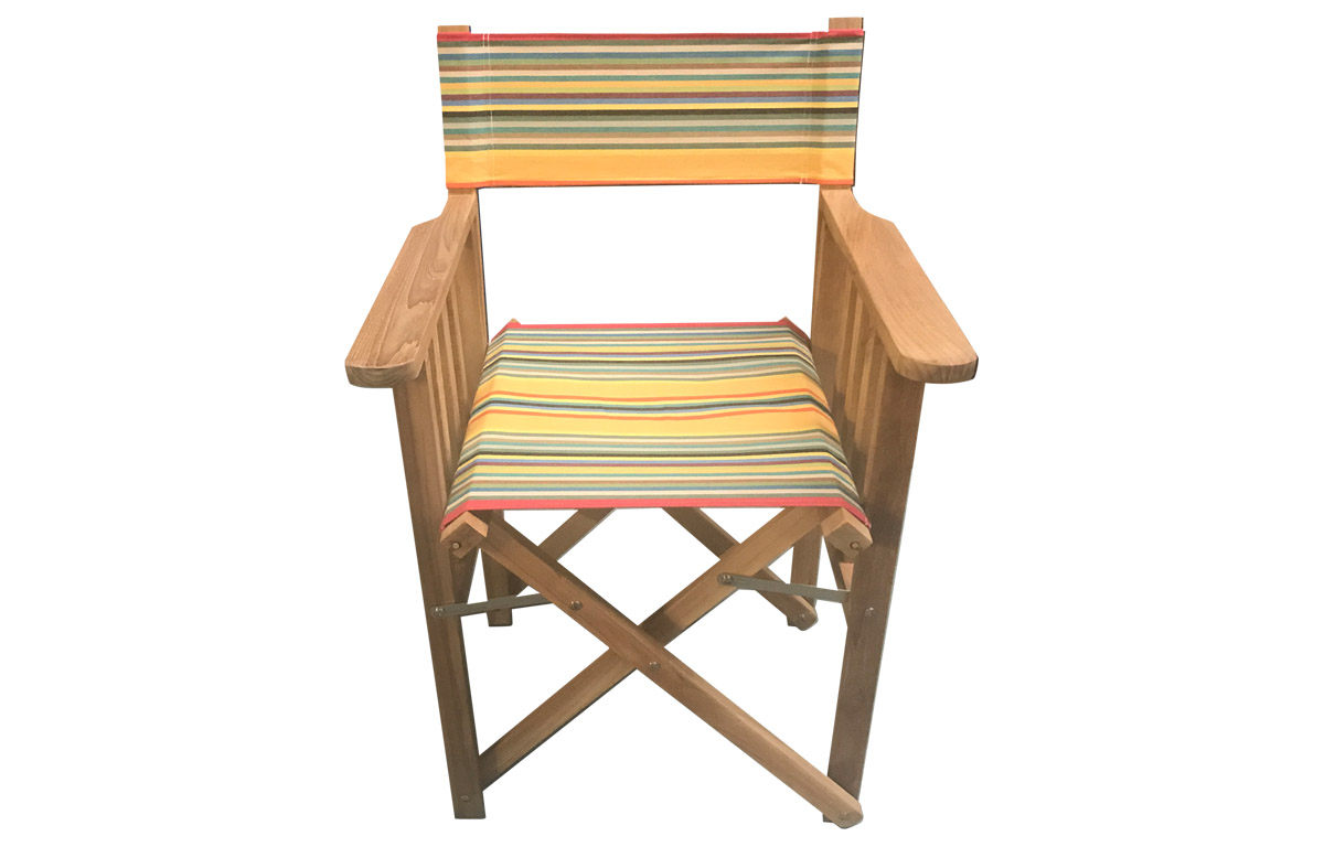 medley of colours in narrow stripes- Directors Chairs