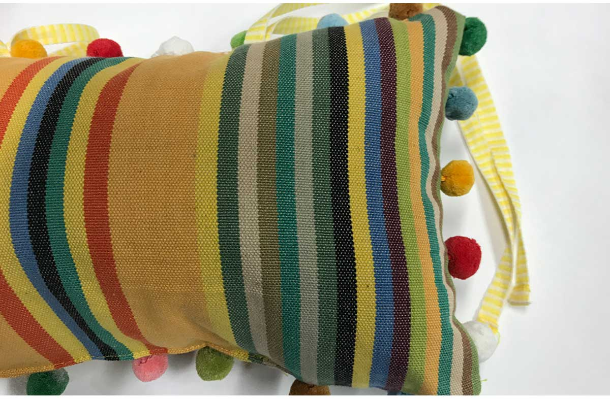 Medley Deckchair Headrest Cushions | Tie on Pompom Headrest Pillow