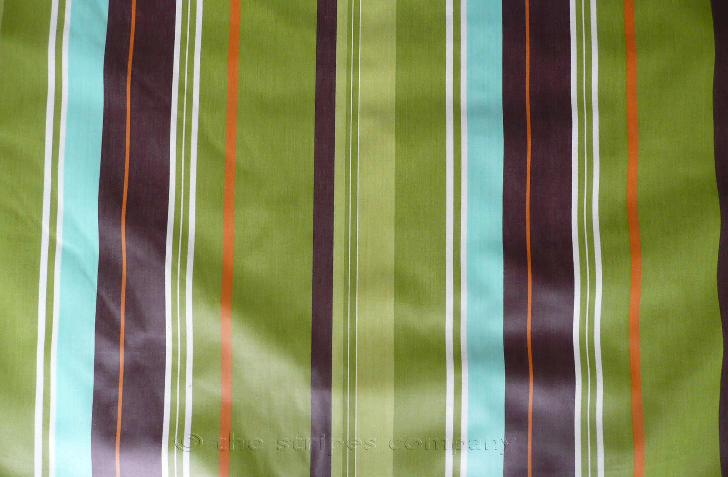 Lime Green Striped Oilcloth Fabrics | Wipeable Stripe Fabrics Tennis Stripes