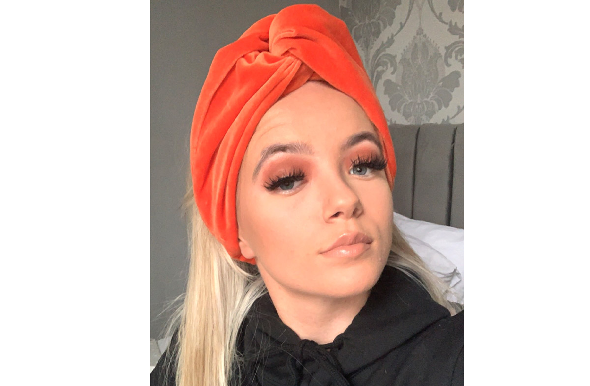 Orange Velvet Turban Headbands