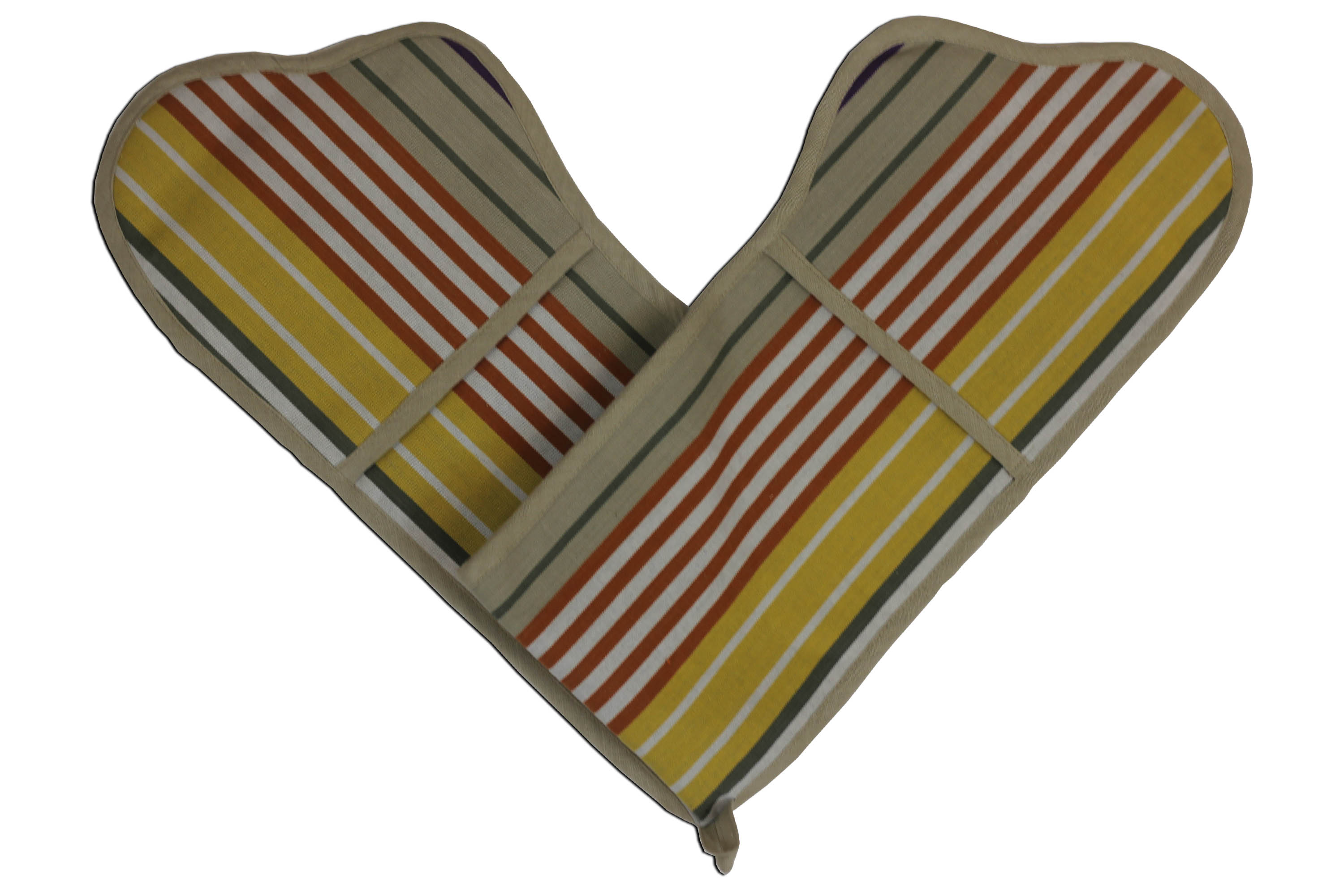 Striped Double Oven Gloves