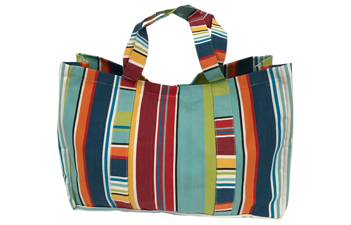 Bright Fun Stripe Extra Large Beach Bag