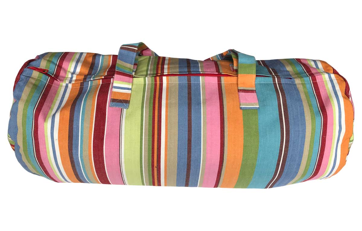Striped Picnic Blankets with Carry Bag | Roll Up Stripe Picnic Rugs blue, pink, turquoise