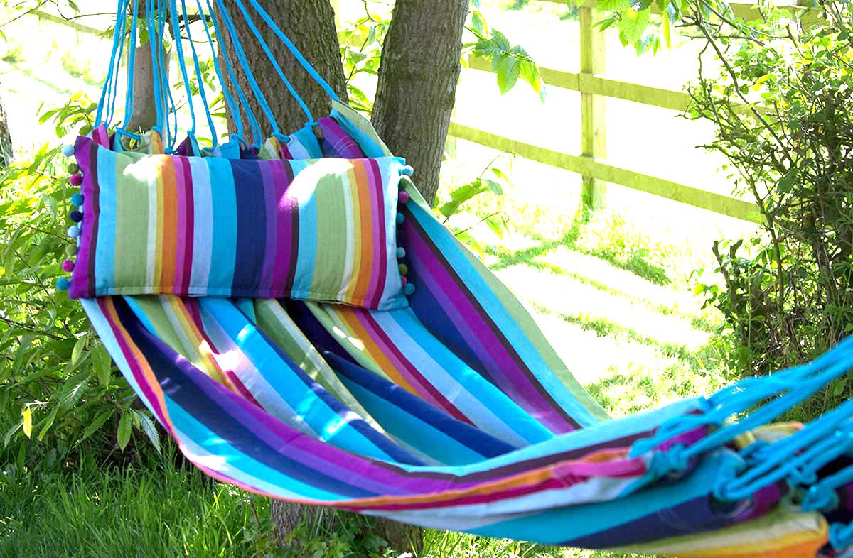 Bright Rainbow Stripe Hammock