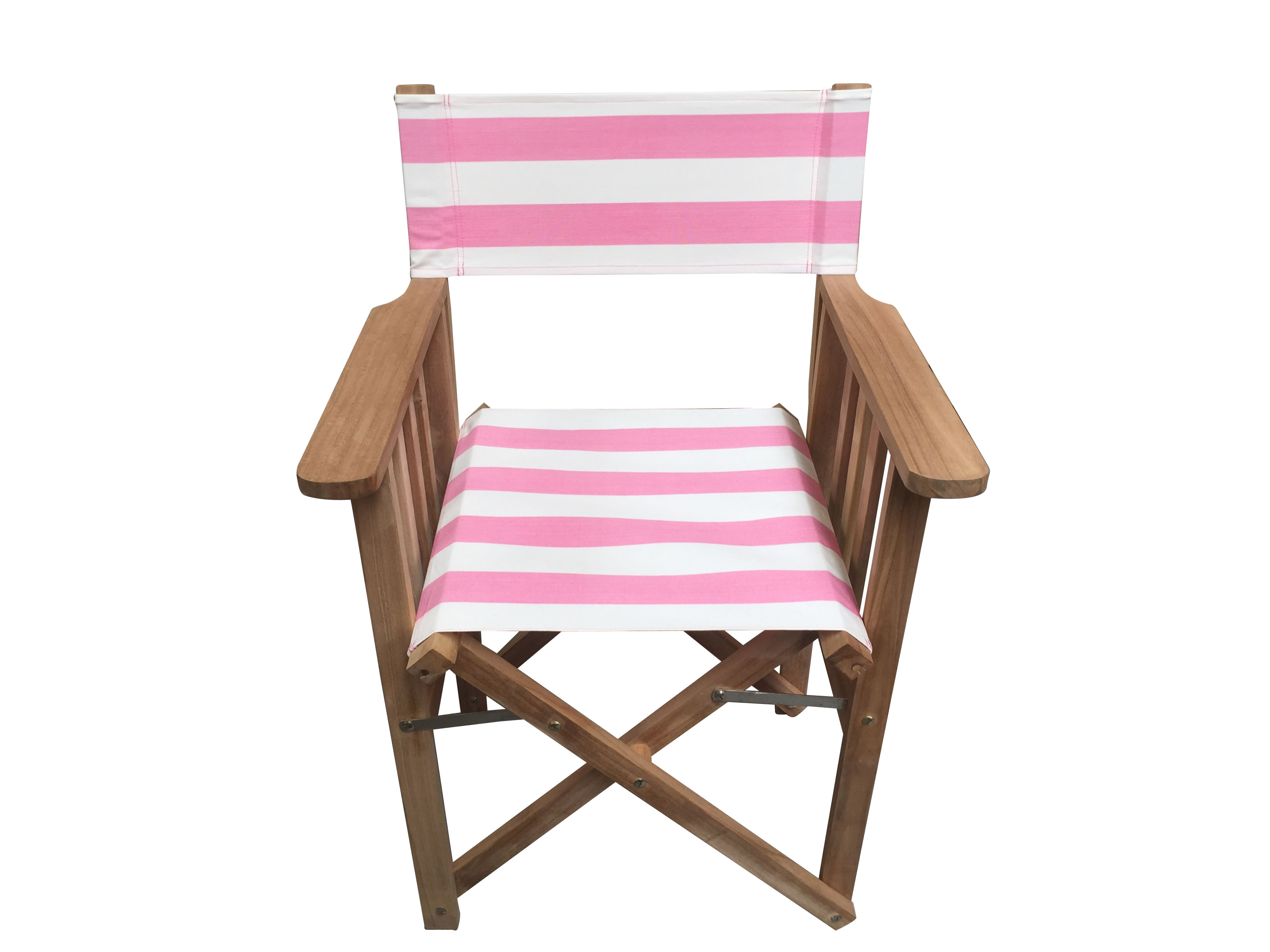 Pink and White Striped Directors Chairs
