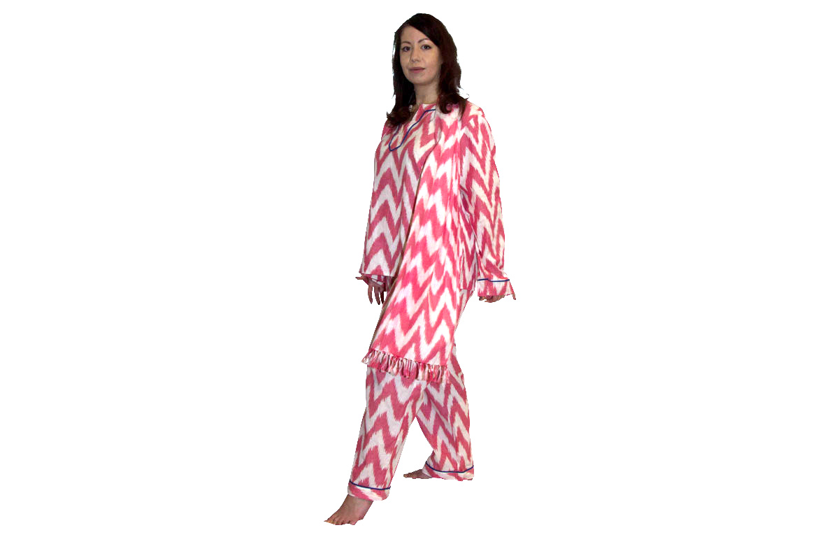 Pink Three Piece Lounging Pyjama Set  - Small