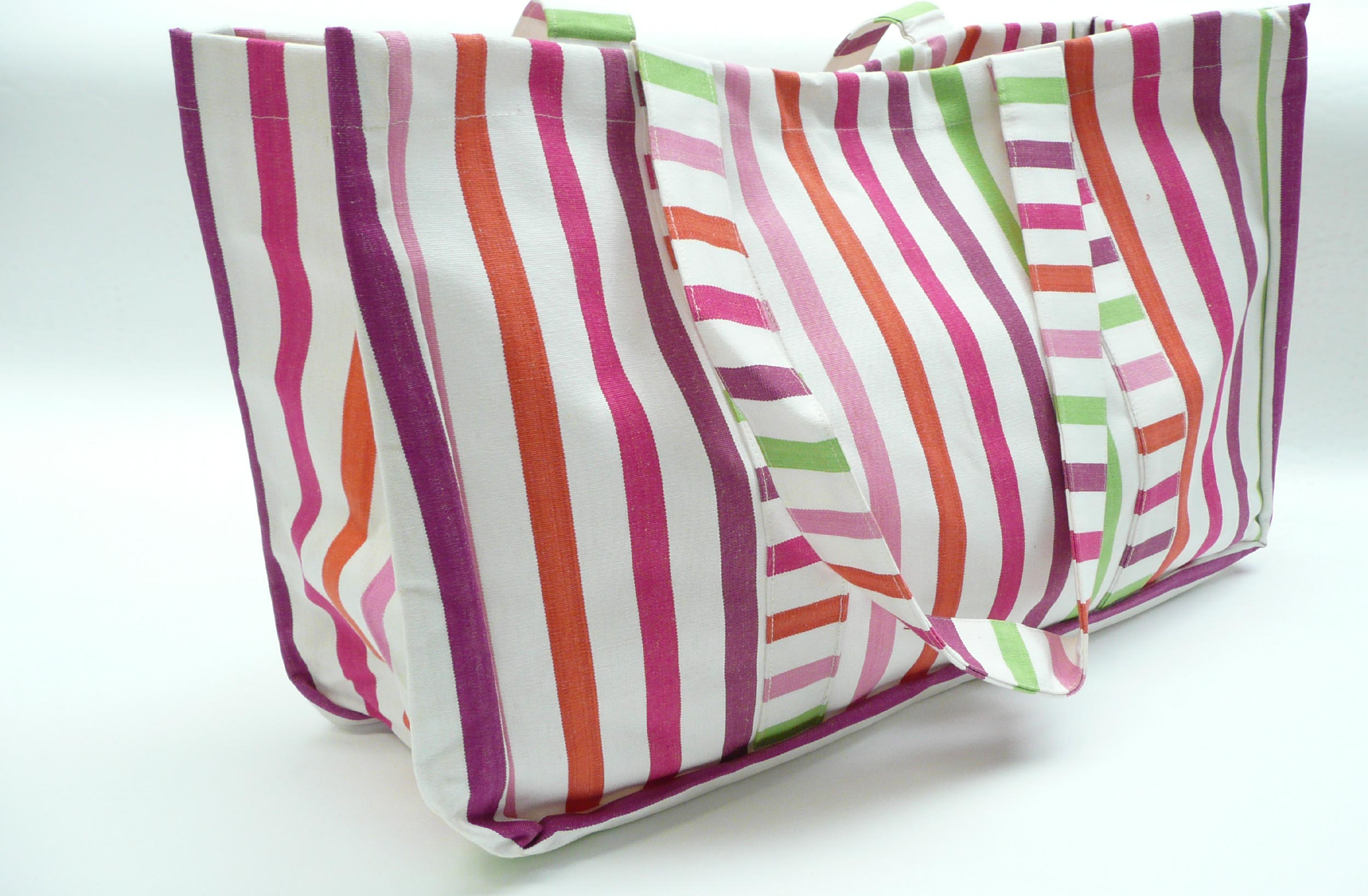 Extra Large Beach Bag White Pink Purple Stripes | The Stripes ...