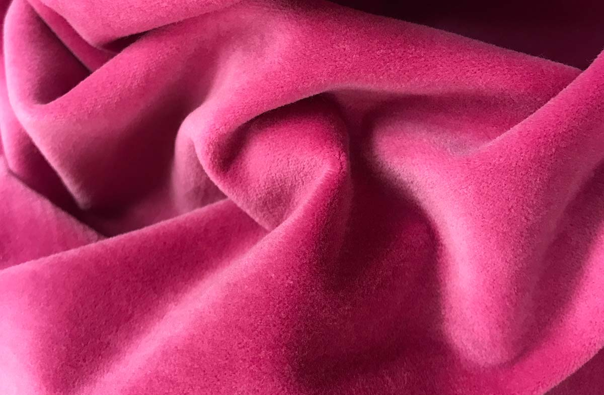 Pink Cotton Velvet Fabric | The Stripes Company