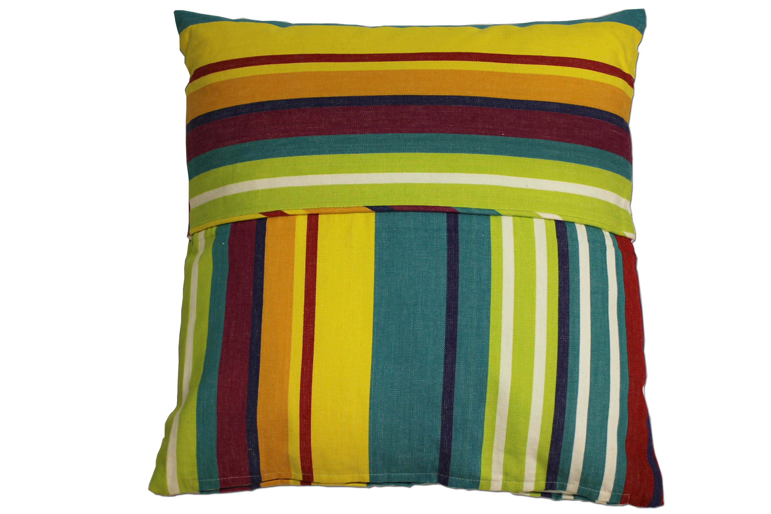 Striped Piped Cushions - Aerobics Stripe