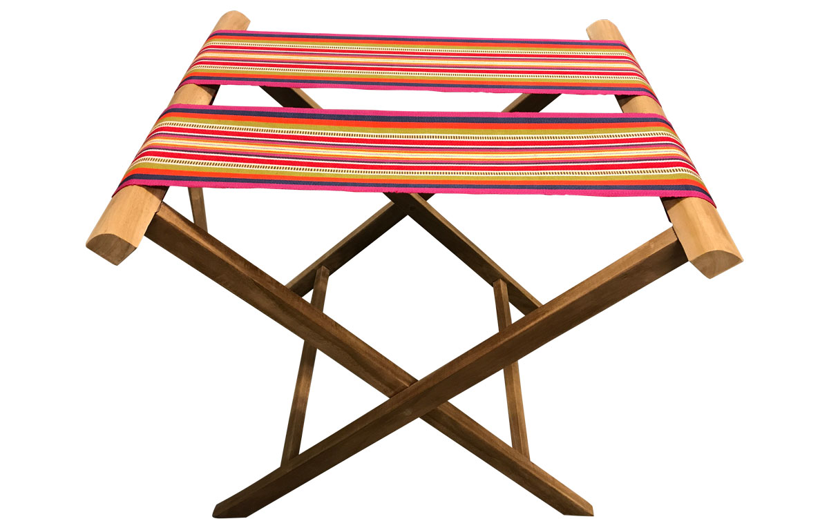 Folding Luggage Racks pink, coral, lavender - Extra wide webbing