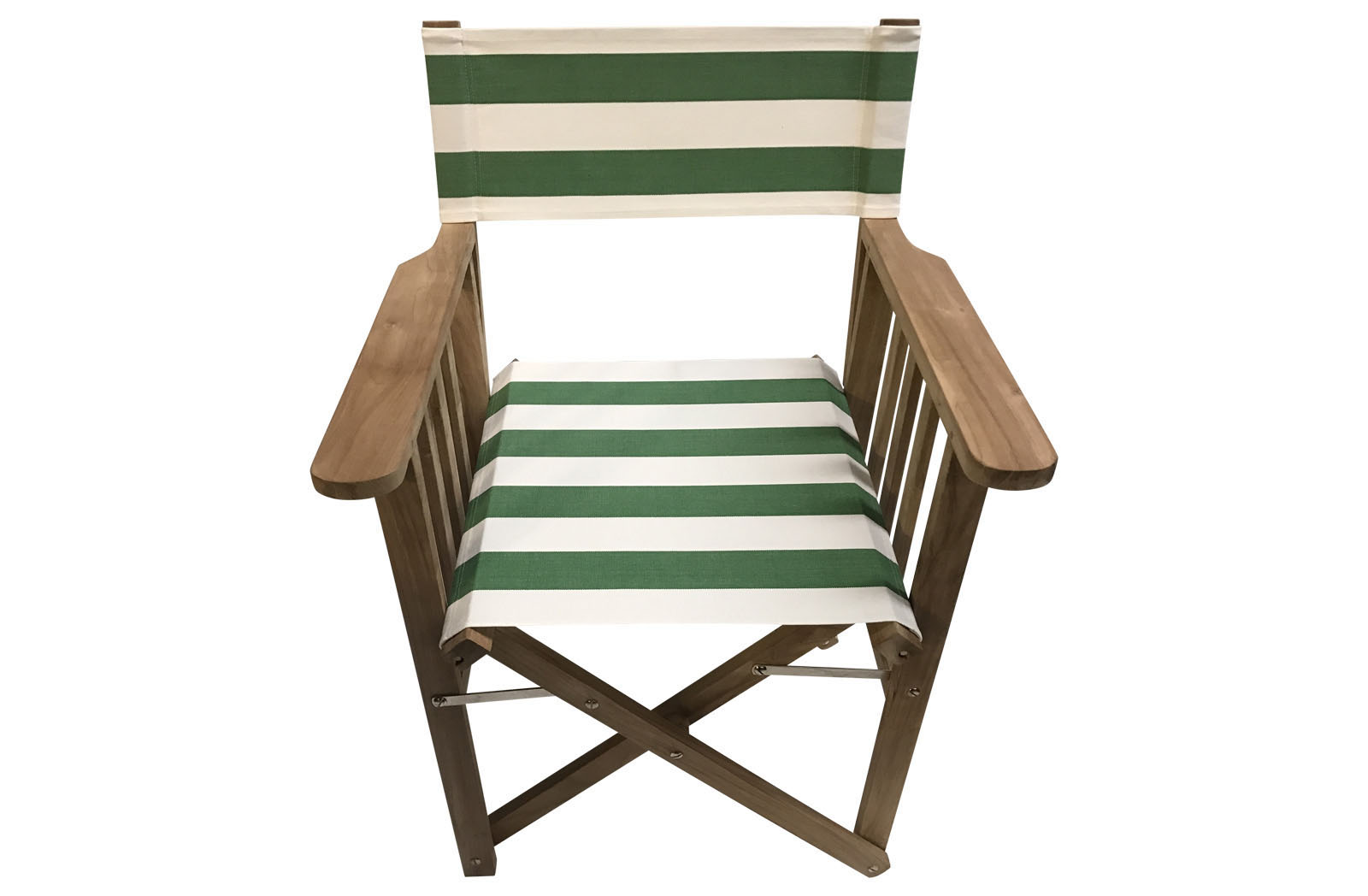 green and white- Directors Chairs