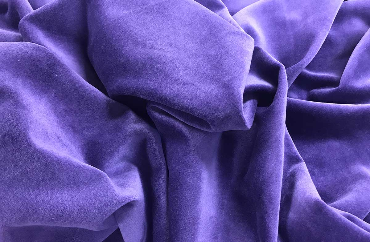 Purple Cotton Velvet Fabric | The Stripes Company