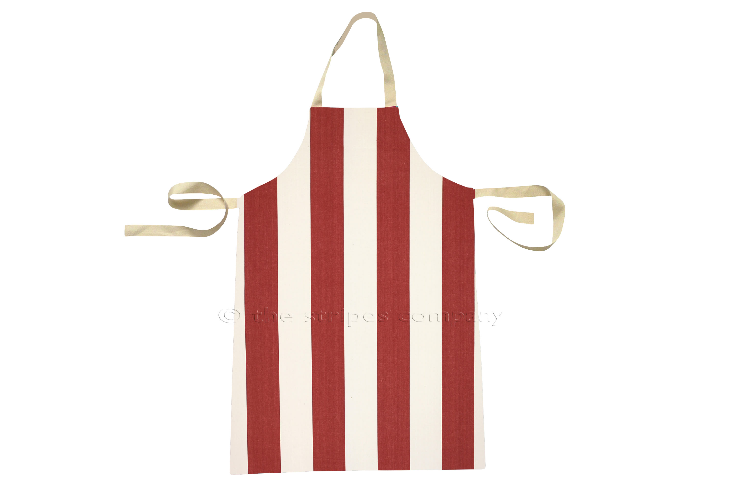 Red and White Striped Childrens Aprons