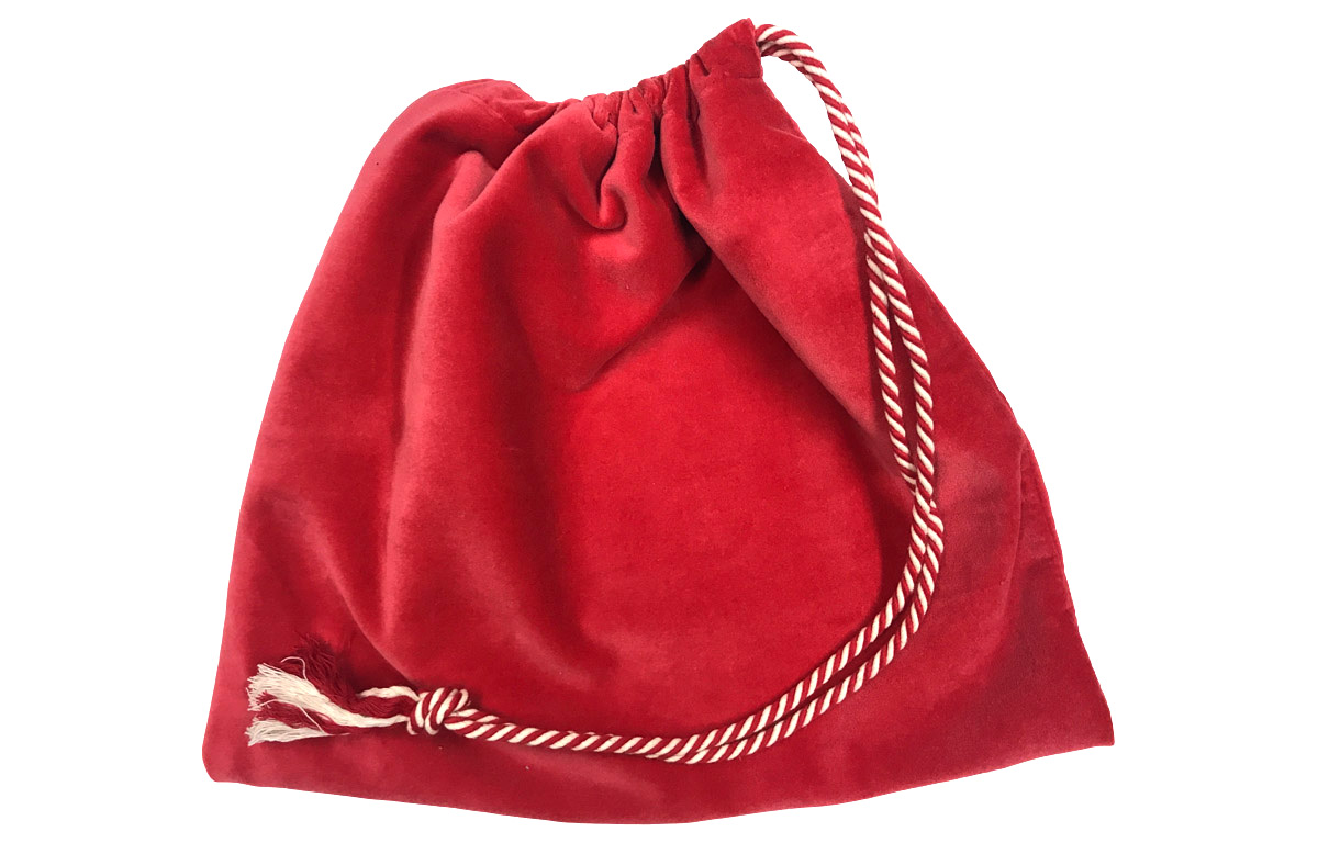 Red Velvet Handbag Pouches with Drawstring
