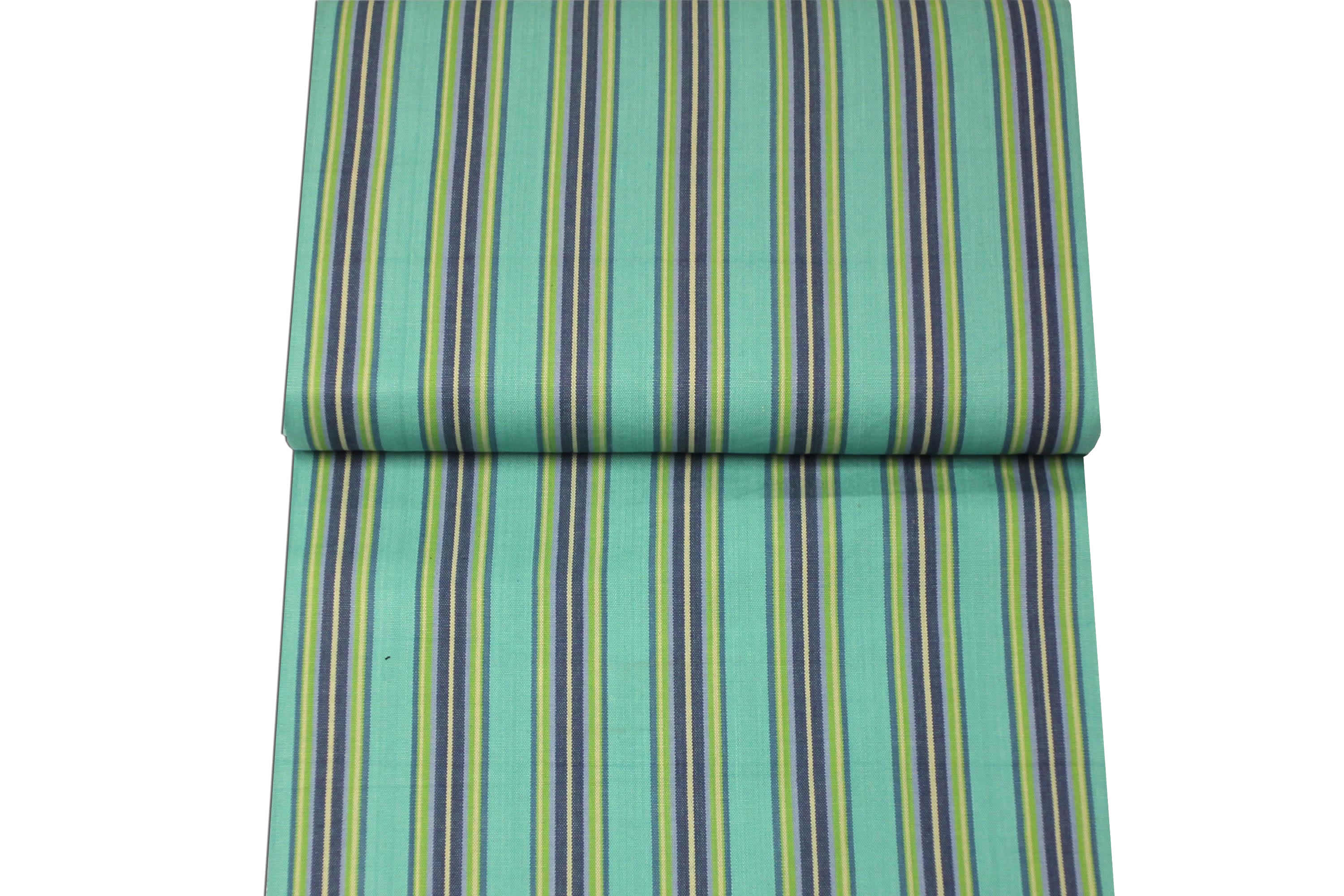 Dark Blue, Green and Cream Stripe Replacement Deck Chair Sling - Fencing