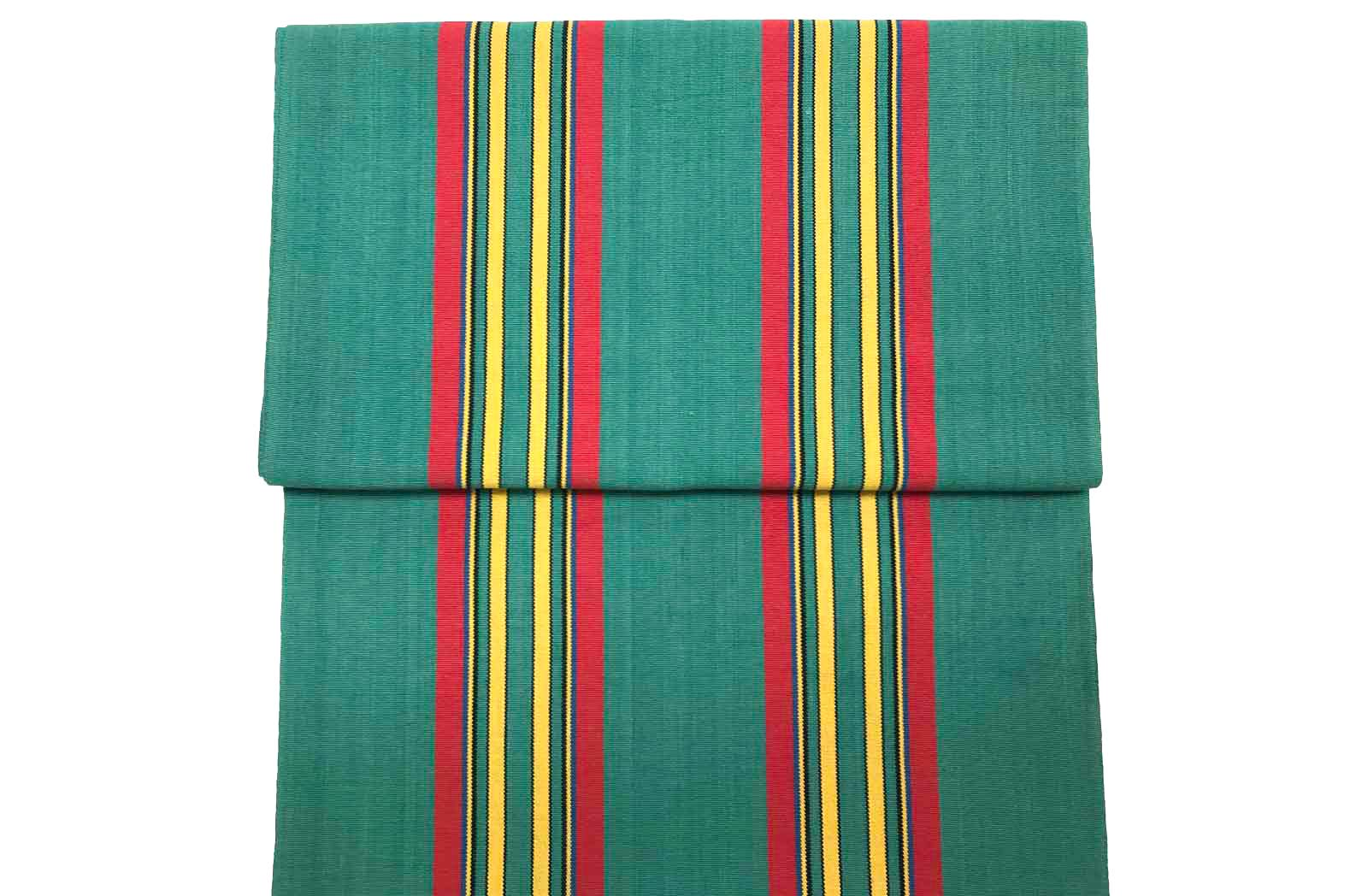 Replacement Deck Chair Slings Jade green, red, yellow stripe