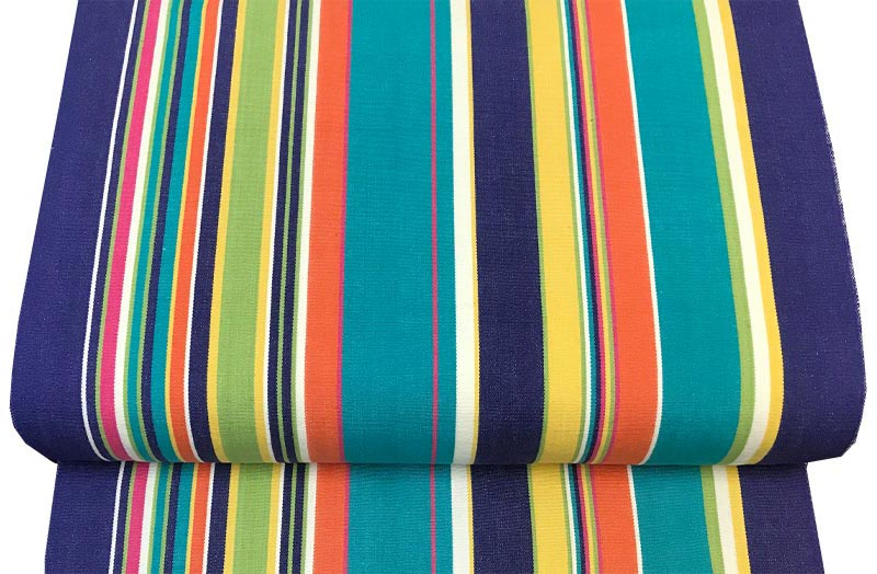 Replacement Deck Chair Sling turquoise, pale green, royal blue stripe