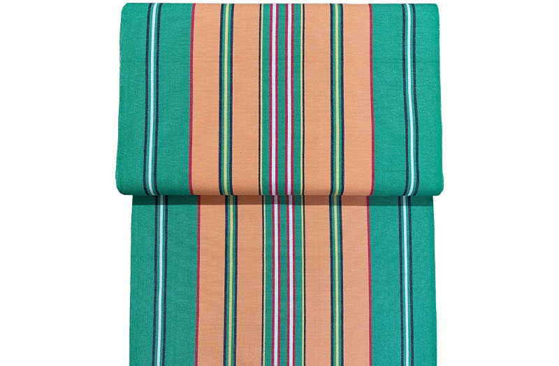 Green, Terracotta Strip Replacement Deck Chair Slings