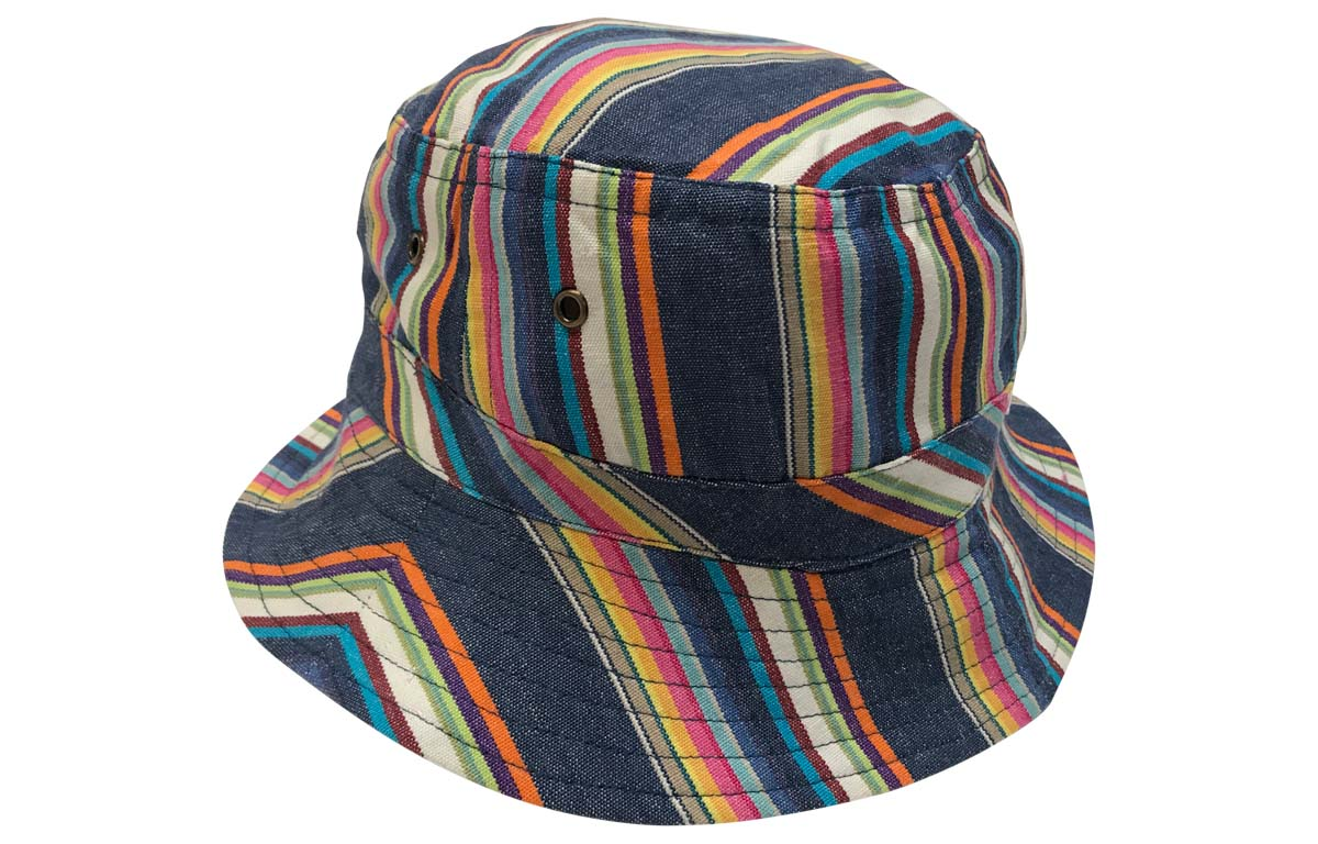 Navy Blue Striped Sun Hat | The Stripes Company