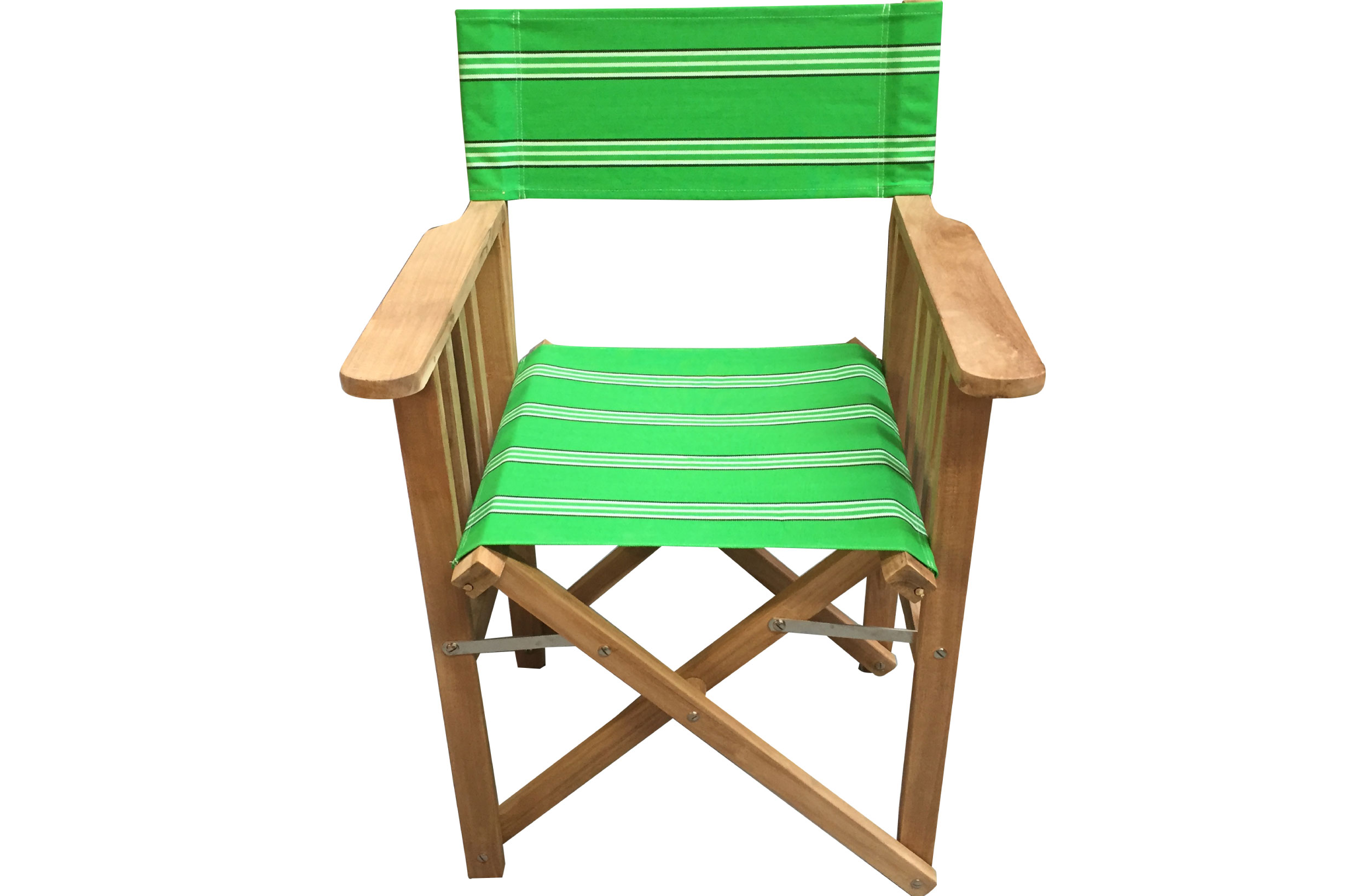 Emerald Green Directors Chair - Rounders Stripe