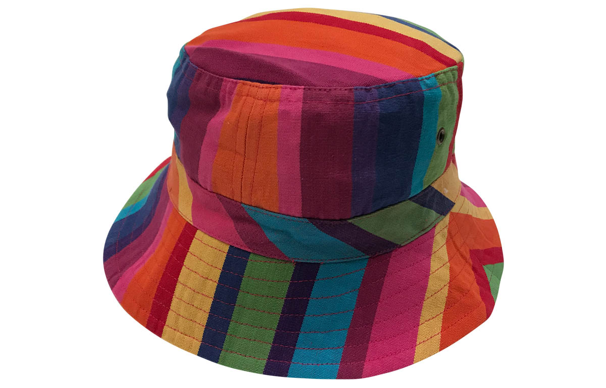 Rainbow Striped Bucket Hat from The Stripes Company