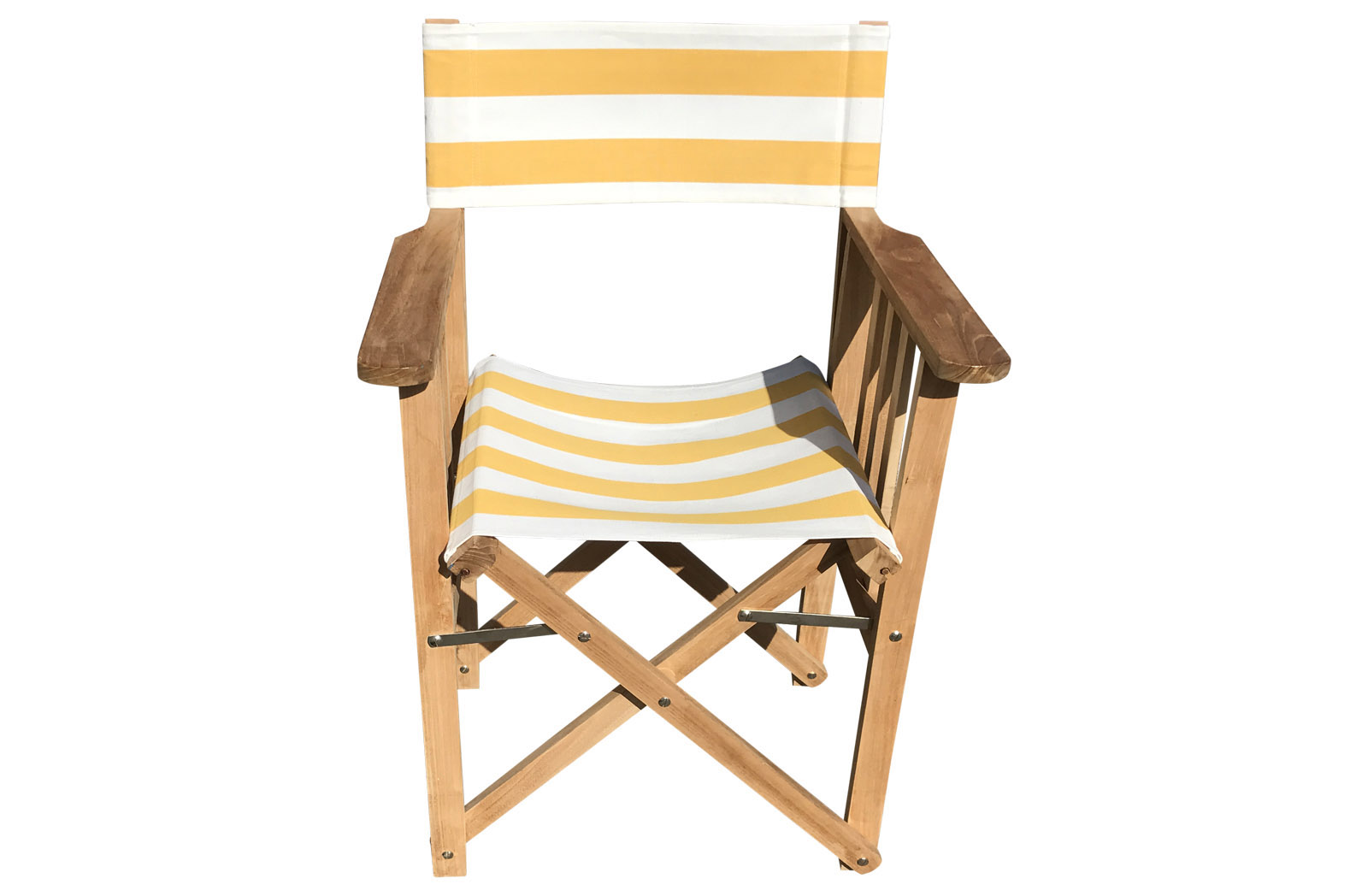 Yellow And White Directors Chairs Shot Put The Stripes