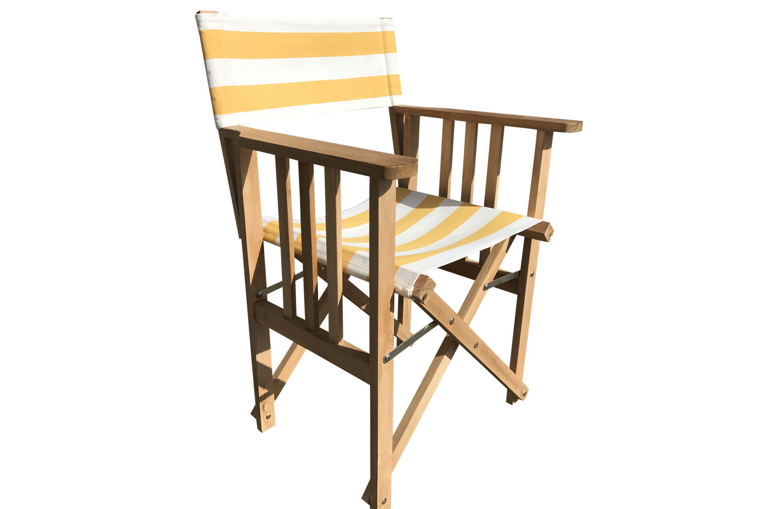 Yellow and white Directors Chairs - Shot Put