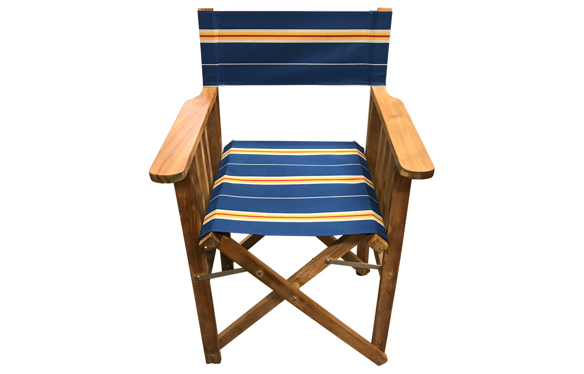 Navy blue, off white, gold - Directors Chairs