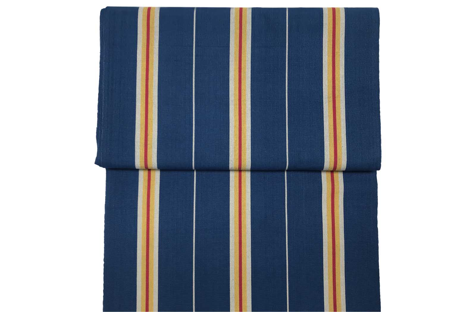 Navy Blue Stripe Deckchair Headrest Cushions | Tie on Pompom Headrest Pillow