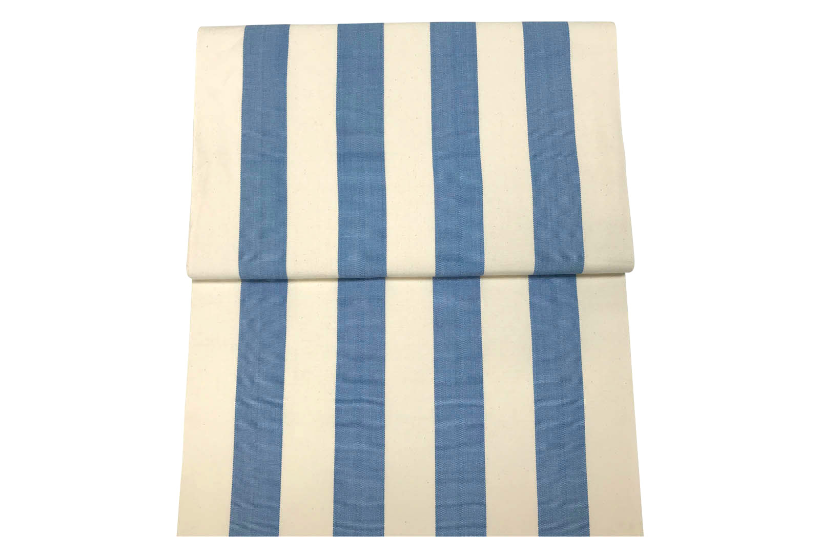 Sky Blue and White Deckchair Canvas Fabric