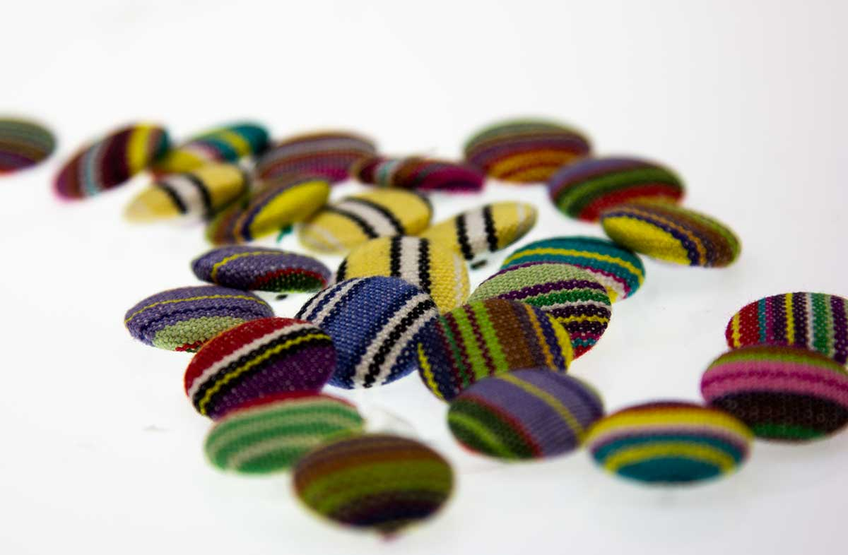 Small Striped Buttons