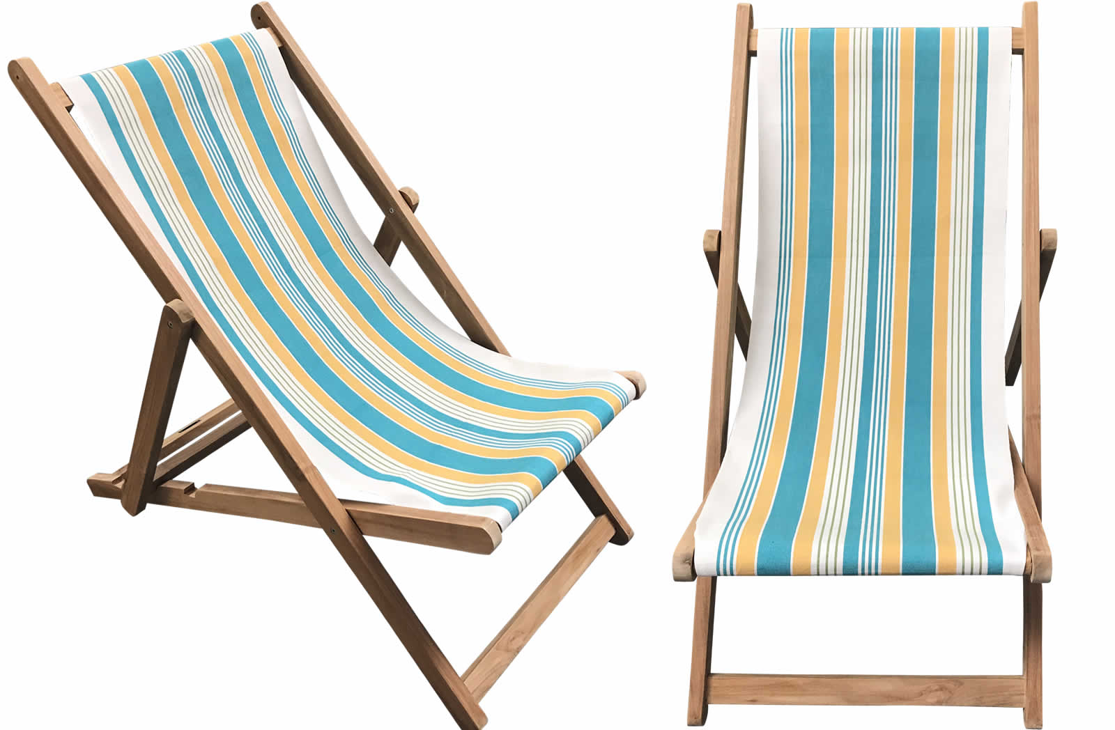 Deckchair with cover in softball fabric
