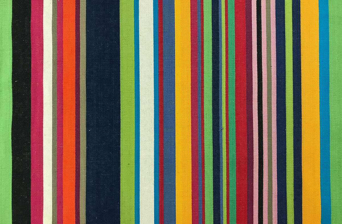 Multi-Colour Striped Oilcloth Fabric | Wipeable Stripe Fabrics