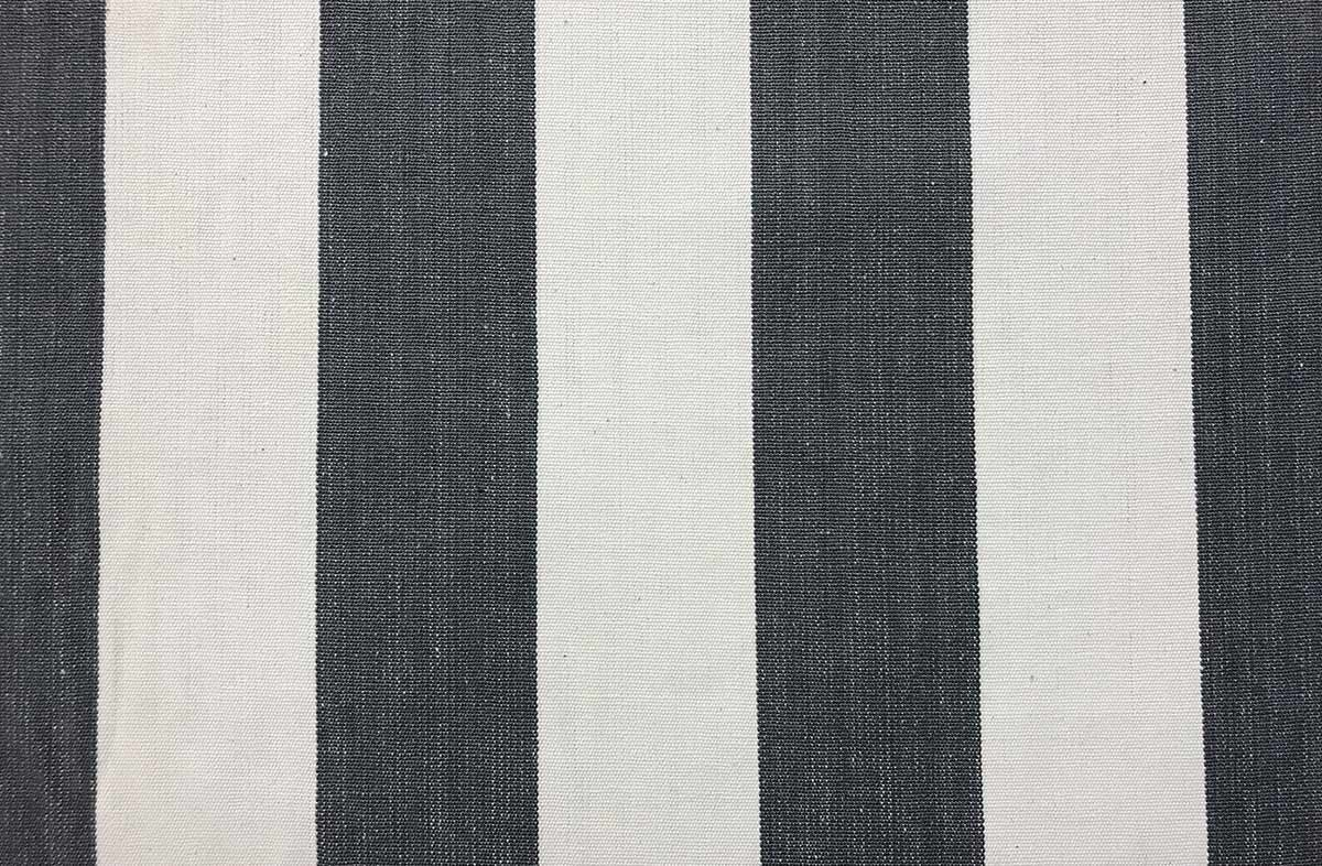 charcoal, white- Striped Fabrics | Stripe Cotton Fabrics | Striped Curtain Fabrics | Upholstery Fabrics